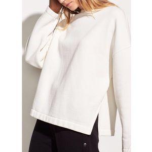 NWT Vince White Pullover Cotton Sweatshirt